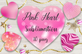 Sublimation Valentine Pink Heart Graphic Backgrounds By PinkPearly