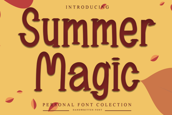 Print on Demand: Summer Magic Display Font By dazzlinggleam