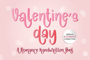 Print on Demand: Valentine's Day Script & Handwritten Font By BitongType