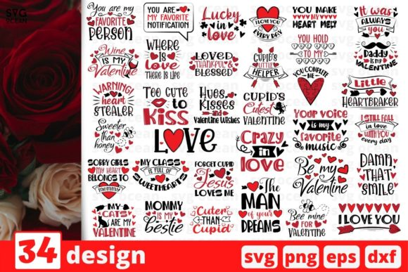 Valentines Day SVG Bundle Graphic Crafts By SvgOcean