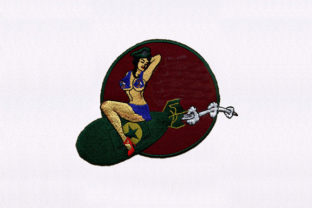Bomb Perched Woman Design Toys & Games Embroidery Design By DigitEMB