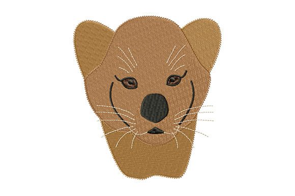 Print on Demand: Cute Lion Cub Wild Animals Embroidery Design By EmbArt