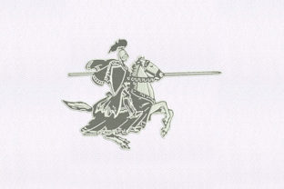 Dueling Knight Design Military Embroidery Design By DigitEMB