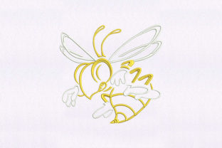 Female Honey Bee Design Bugs & Insects Embroidery Design By DigitEMB