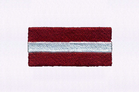 Flag of Latvia Design Independence Day Embroidery Design By DigitEMB