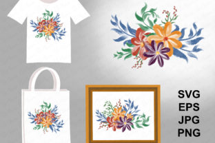 Flowers Watercolor Graphic Illustrations By PurMoon