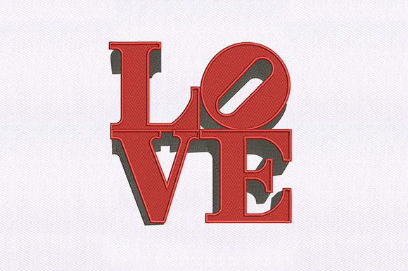 Love Text Valentine's Day Embroidery Design By DigitEMB