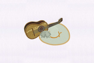 Mariachi Hat Music Embroidery Design By DigitEMB