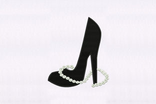 Necklace & Heel Shoe Design Beauty Embroidery Design By DigitEMB