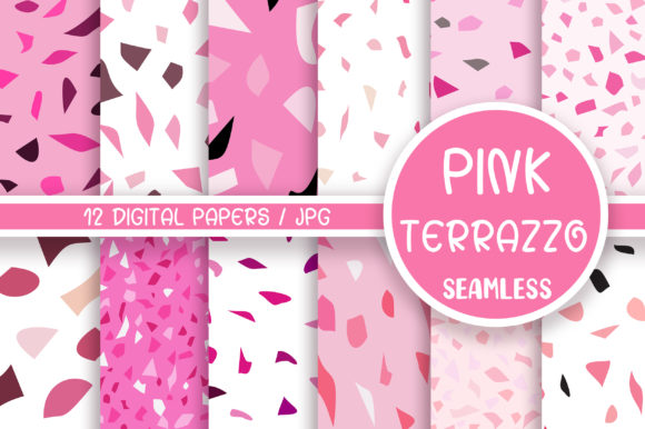 Pink Terrazzo Seamless Pattern Graphic Patterns By PinkPearly