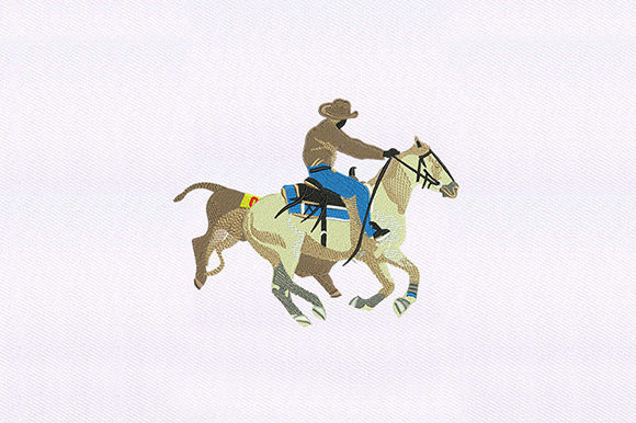 Racing Cowboy Cowboy & Cowgirl Embroidery Design By DigitEMB