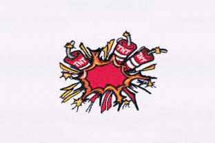 Red TNT Bombs Design Toys & Games Embroidery Design By DigitEMB