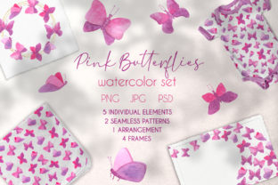 Watercolor Butterflies Cute Clipart Set Graphic Illustrations By Olya Haifisch