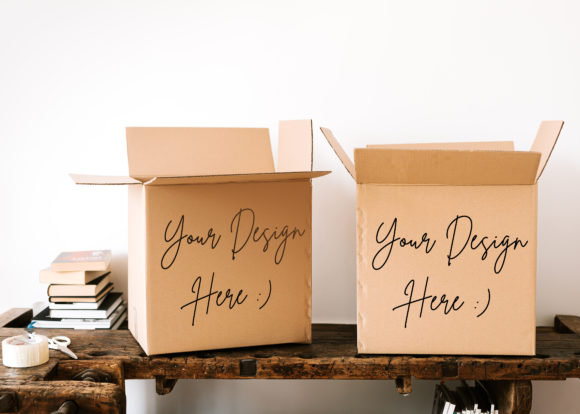 Double Brown Box Mockup Graphic Product Mockups By Vutura