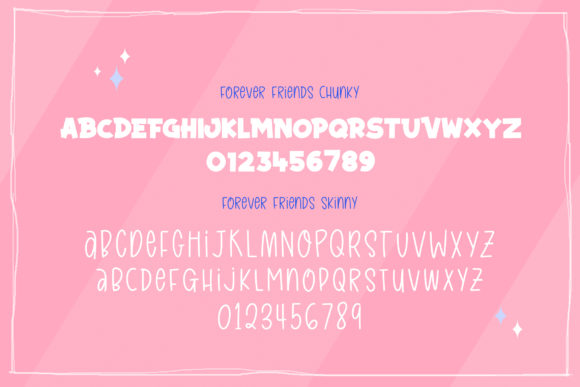 Forever Friends Duo Font Image