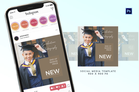 Graduation Social Media Promotion Graphic Print Templates By ivanjoys19