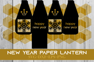 Print on Demand: Happy New Year Paper Lantern Series 0030 Graphic 3D SVG By Cerescrafts