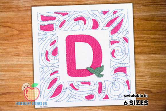Letter D Floral Wreaths Embroidery Design By embroiderydesigns101