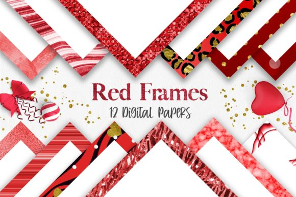 Valentine Red Frames Background Graphic Backgrounds By PinkPearly