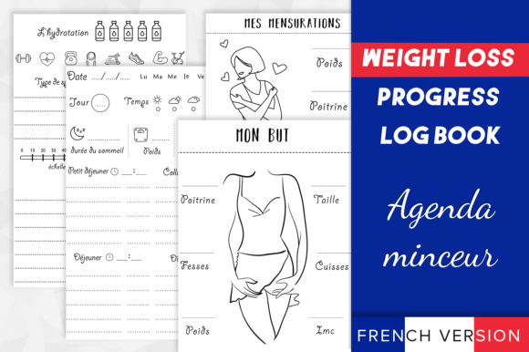 Print on Demand: Weight Loss Progress Log Book (minceur) Graphic KDP Interiors By KDP Interiors