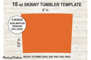 Print on Demand: 15 Oz Skinny Tumbler Template SVG Graphic Crafts By Mockup Station