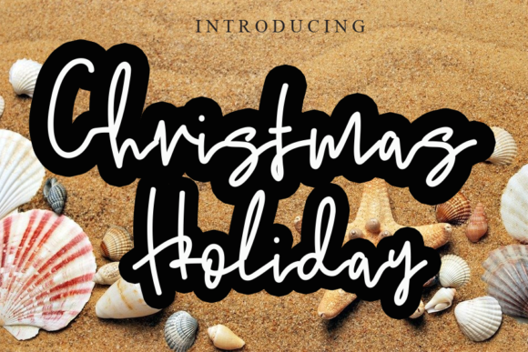 Print on Demand: Christmas Holiday Script & Handwritten Font By ink paper