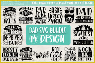 Print on Demand: Dad Quotes SVG Bundle, SVG Funny Quotes Gráfico Crafts Por PrintableSvg