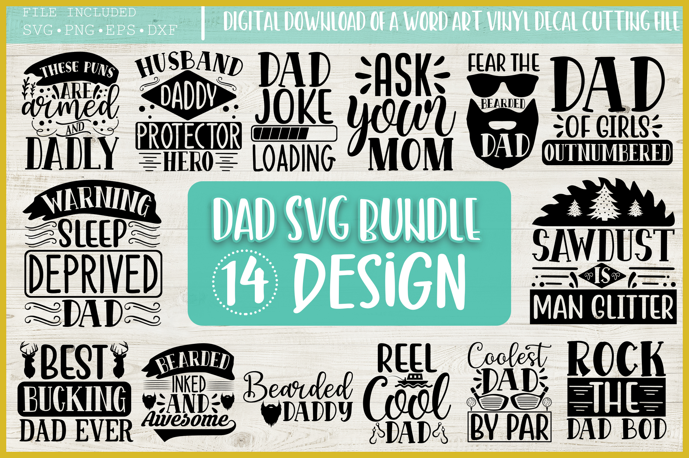 Dad Quotes SVG Bundle, SVG Funny Quotes SVG File