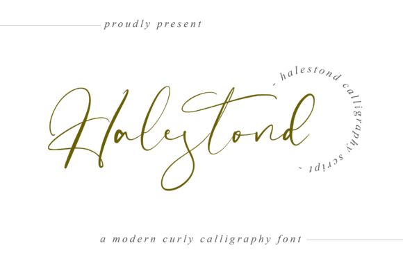 Print on Demand: Halestond Script & Handwritten Font By hugefonts