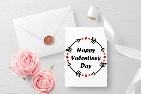 Happy Valentine's Day Phrase Svg. Graphic Print Templates By CuteShopClipArt