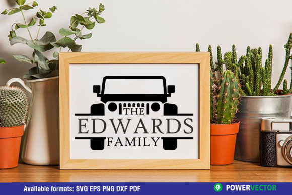 Jeep Family Monogram Sign Template Graphic Crafts By PowerVECTOR