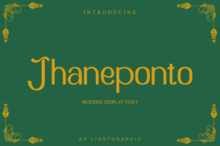 Print on Demand: Jhaneponto Display Font By sifak1726