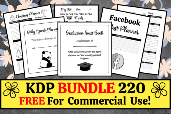 Print on Demand: KDP Bundle Pack 220 Templates + Extras Graphic KDP Interiors By KDP Mastermind