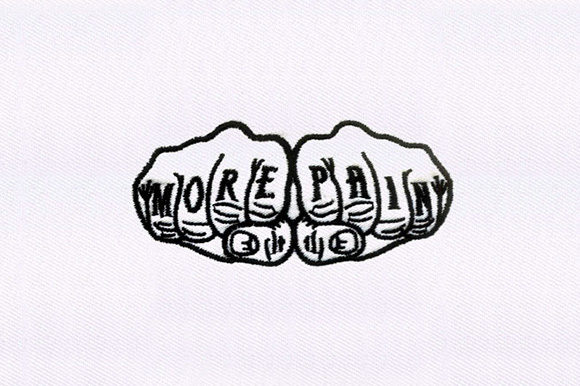 More Pain Knuckle Tattoo Awareness Embroidery Design By DigitEMB
