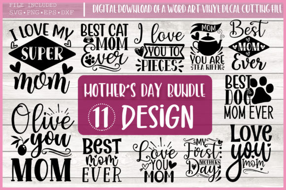 Free Mother S Day Svg Bundle Mom Quotes Graphic By Printablesvg Creative Fabrica SVG, PNG, EPS DXF File