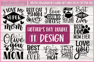 Print on Demand: Mother's Day Svg Bundle,Mom Quotes Graphic Crafts By PrintableSvg