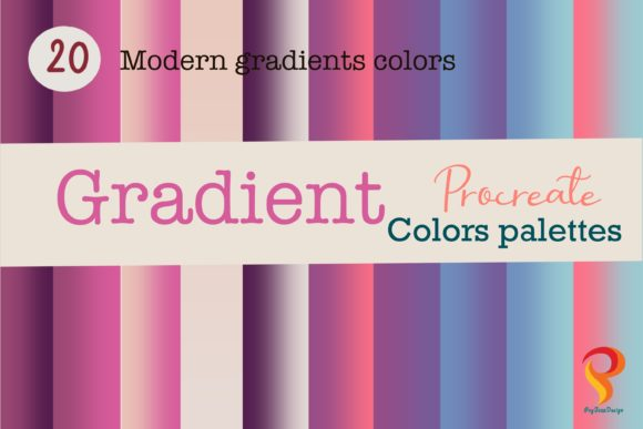 Procreate Gradient Color Palette Graphic Add-ons By PoyJazz