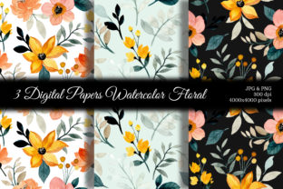 Print on Demand: Seamless Pattern Floral Watercolor 101 Graphic Patterns By asrulaqroni