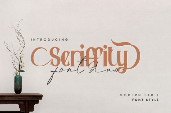 Print on Demand: Seriffity Duo Serif Fuente Por motiontailstudio