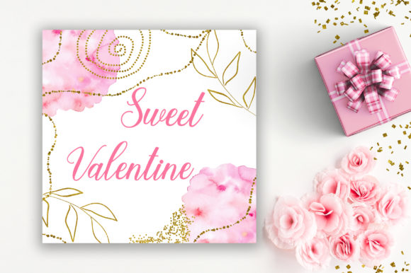 Sweet Valentine Background Digital Paper Graphic Backgrounds By PinkPearly