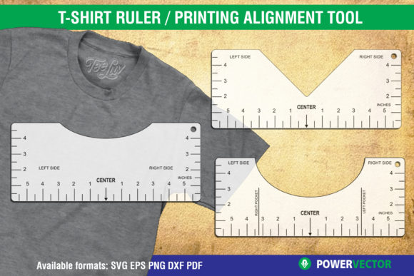 Tshirt Ruler T Shirt Printing Guide Graphic By Powervector Creative Fabrica