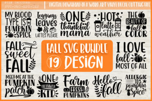 Print on Demand: Fall Svg, Happy Fall Svg,fall Svg Bundle Graphic Crafts By PrintableSvg