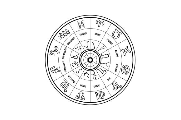 Zodiac Wheel Designs & Drawings Craft Cut File By Creative Fabrica Crafts