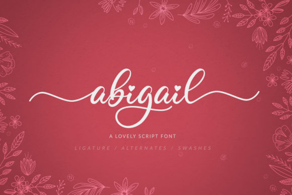 Print on Demand: Abigail Script & Handwritten Font By Hustletter
