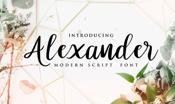 Print on Demand: Alexander Script & Handwritten Font By Brilian Studio