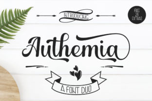 Print on Demand: Authemia Script & Handwritten Font By Skinny type