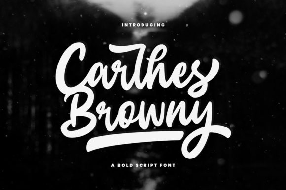Print on Demand: Carlhes Browny Script Script & Handwritten Font By Sizimon