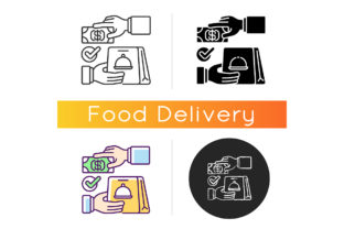 Print on Demand: Cash on Delivery Icon Graphic Icons By bsd studio