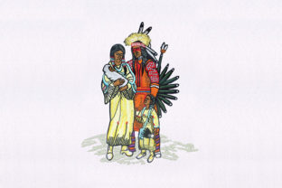 Chief and Family Africa Embroidery Design By DigitEMB