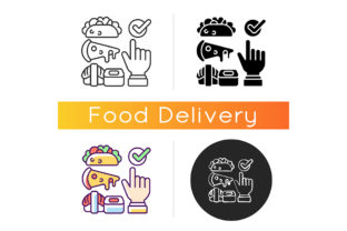 Print on Demand: Choosing Cuisine Icon Graphic Icons By bsd studio